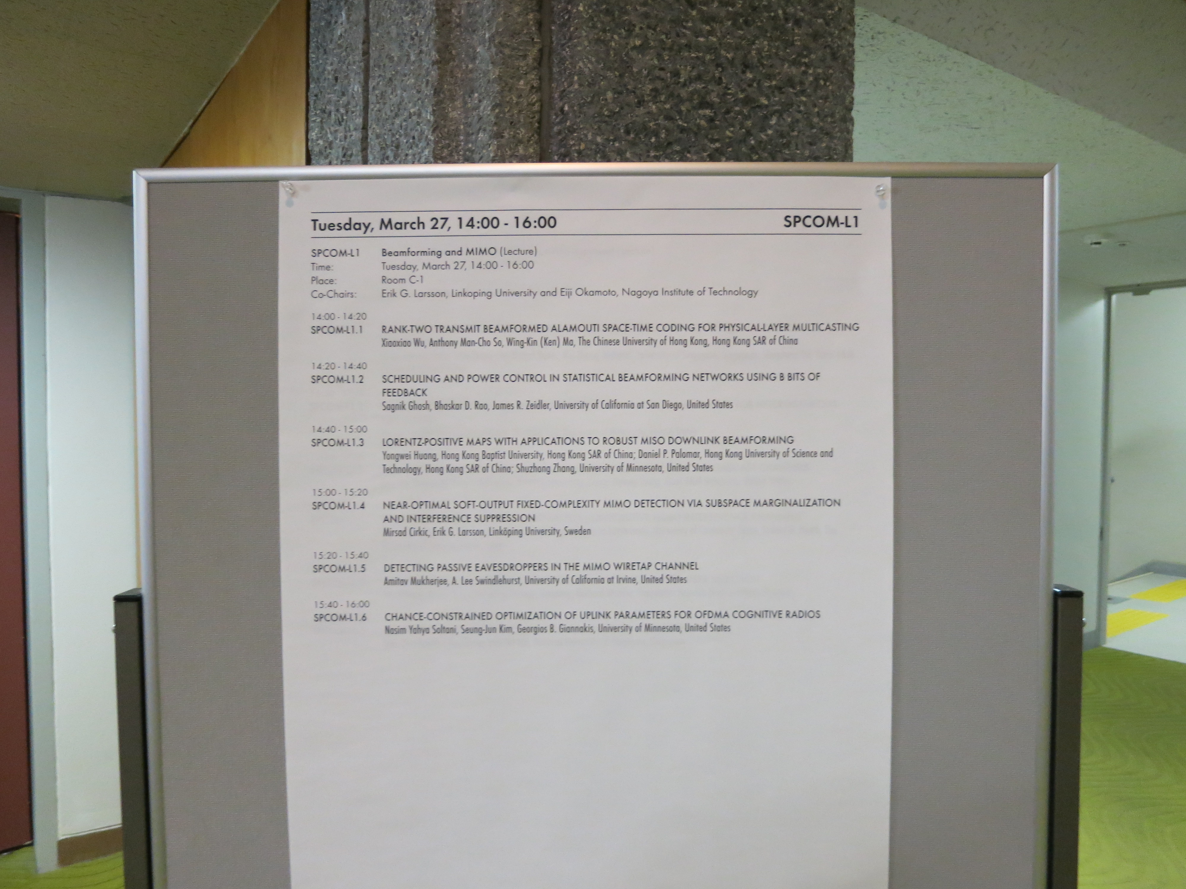 ICASSP 2012 Photo Gallery